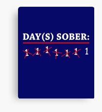 Day(s) Sober White Canvas Print