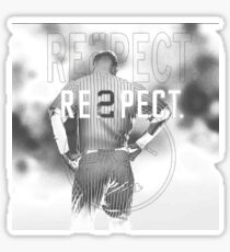 derek Jeter Respect 2 Sticker