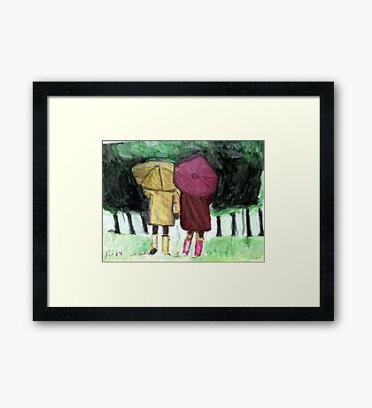 Two Umbrellas Framed Print