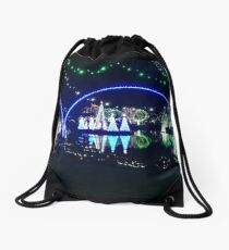 Lights at the zoo at night Drawstring Bag