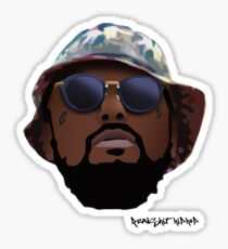Schoolboy Q - RSHH Cartoon Sticker