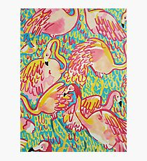 Lilly inspired Flamingos  Photographic Print
