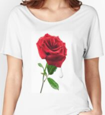 SOME SAY LOVE ..IT IS A FLOWER.. Women's Relaxed Fit T-Shirt