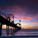 Sunset over Brighton by Andrew Dickman