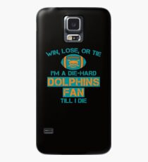 die hard dolphins Fan Case/Skin for Samsung Galaxy
