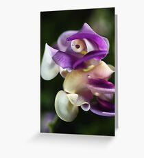 In A Twist Corkscrew Flower Greeting Card
