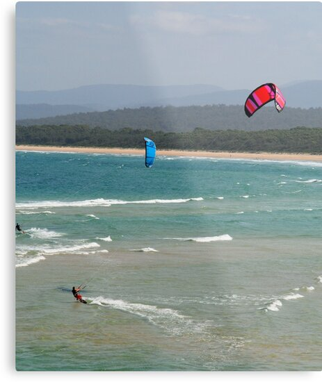 Wind Surfers Merimbula New South Wales by Pauline Tims