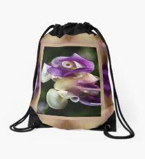 In A Twist Corkscrew Flower Drawstring Bag