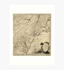 American Revolutionary War Era Maps 1750-1786 584 Map for the interior travels through America delineating the march of the army Art Print