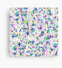 Modern watercolor geometric triangles floral  Canvas Print