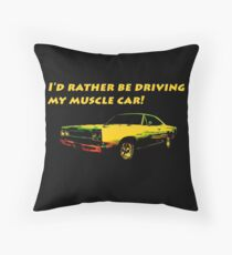 Driving My Muscle Car Throw Pillow