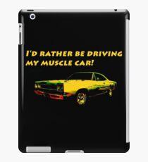 Driving My Muscle Car iPad Case/Skin