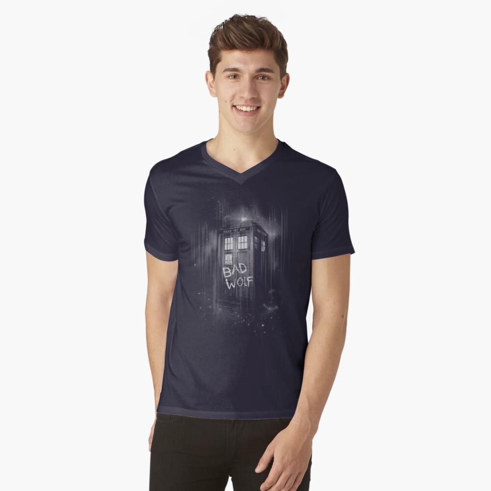 Schlechter Wolf T-Shirt mit V-Ausschnitt