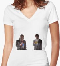 Vincent And Jules Pulp Fiction Women's Fitted V-Neck T-Shirt
