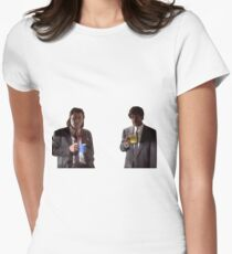 Vincent And Jules Pulp Fiction Women's Fitted T-Shirt