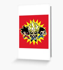 Dragonball z powerpuff style Greeting Card
