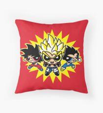 Dragonball z powerpuff style Throw Pillow