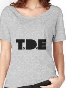 TDE Black Logo Women's Relaxed Fit T-Shirt