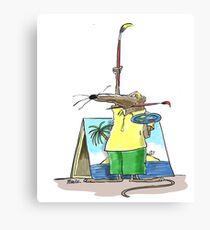 Cartoonist Barry the Shrew Canvas Print