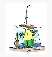 Cartoonist Barry the Shrew Photographic Print