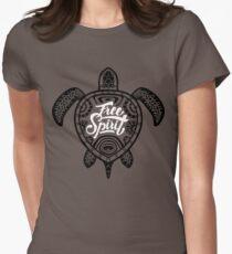 Free Spirit - Green Turtle Illustrative Surfer Style Design T-Shirt