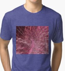 Pink Peacock Feathers Tri-blend T-Shirt