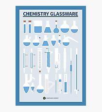 Chemistry Glassware – Poster Version Photographic Print