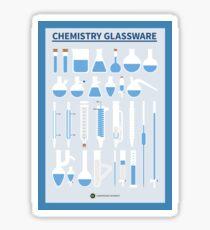 Chemistry Glassware – Poster Version Sticker