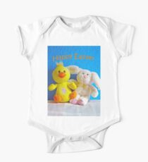 Happy Easter Chick & Bunny One Piece - Short Sleeve