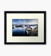 Blue Dock Framed Print
