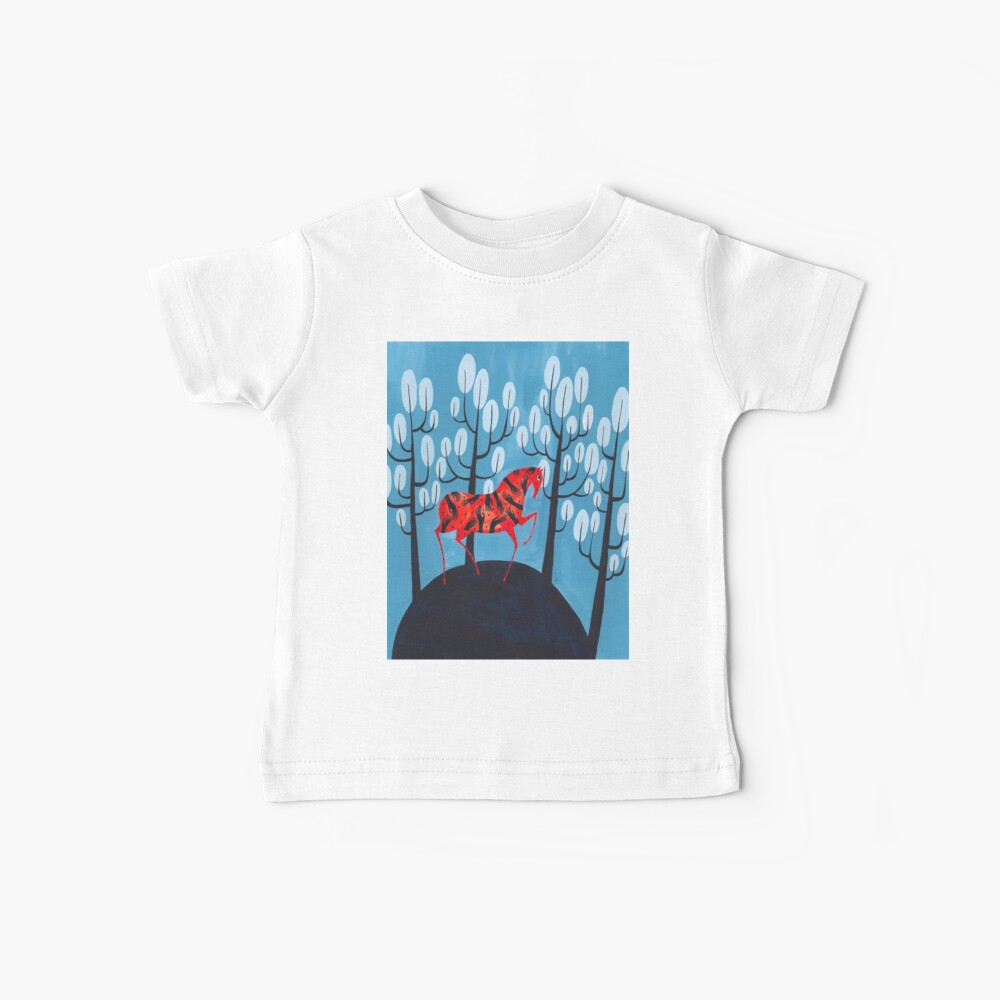 Smug red horse Baby T-Shirt