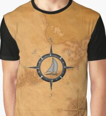 Florida Keys Map Compass Graphic T-Shirt