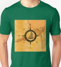 Florida Keys Map Compass Unisex T-Shirt