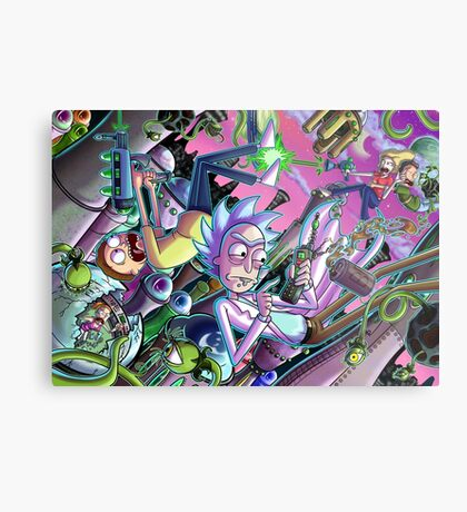 Rick and Morty Metal Print