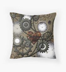 Steampunk, clocks and gears  Throw Pillow