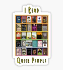 I Read Queer People Sticker