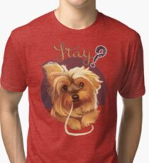 Trufa the Yorkie Tri-blend T-Shirt