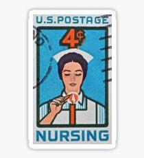"""""""1962 Nursing Stamp"""" Sticker"""