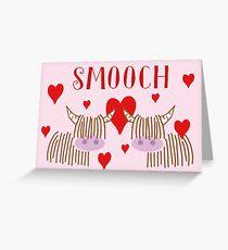 Highland Cow Smooch Greeting Card
