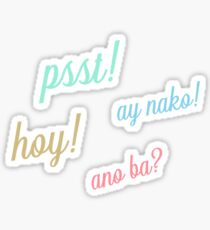 pinoy exclamations Sticker