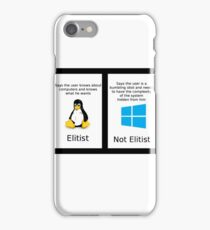 linux vs windows iPhone Case/Skin