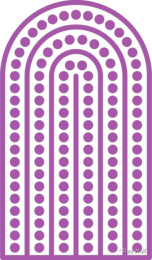 Geometric Pattern: Arch Dot: Purple/White by * Red Wolf