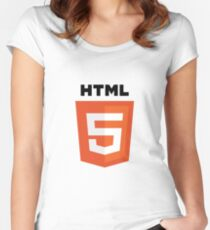 HTML5 Women's Fitted Scoop T-Shirt