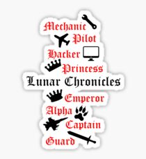 Lunar Chronicle characters Sticker