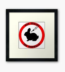 No Animal Testing Framed Print