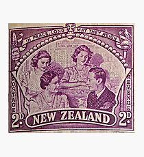 """1948 British Royal Family New Zealand Stamp"" Photographic Print"
