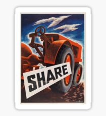 Share - Vintage WW2 Propaganda Poster  Sticker