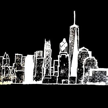 Negative NY Skyline by falcon56
