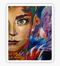 Eyes Like Wildflowers Sticker