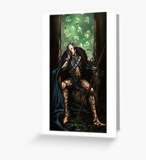 The gods have gone silent Greeting Card